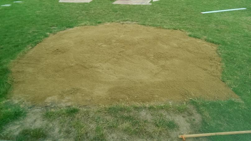 Příprava pískové plochy