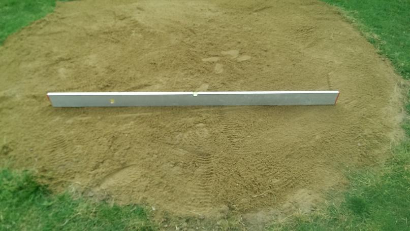Vyrovnání pískové plochy