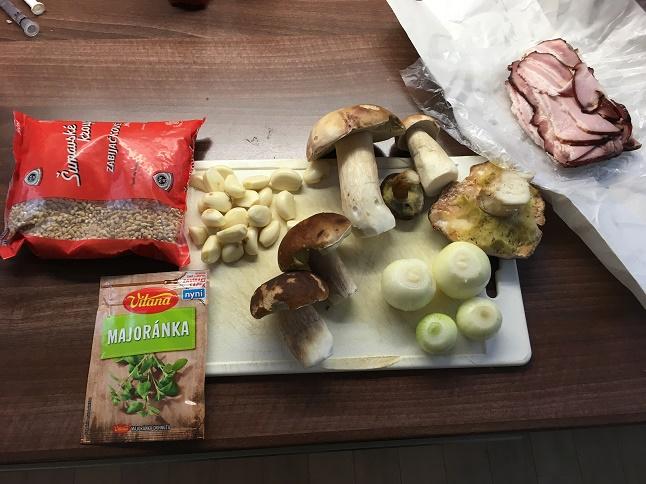 Ingredience na houbového kubu