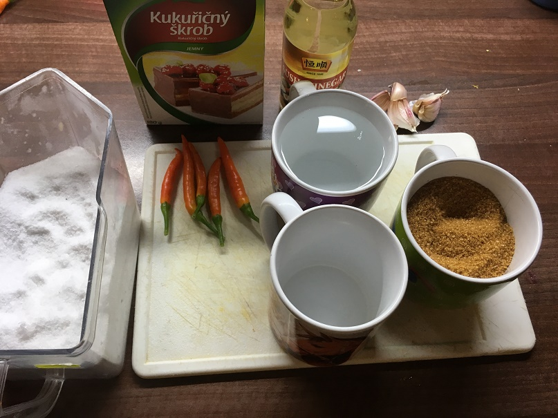 Příprava sweet chilli