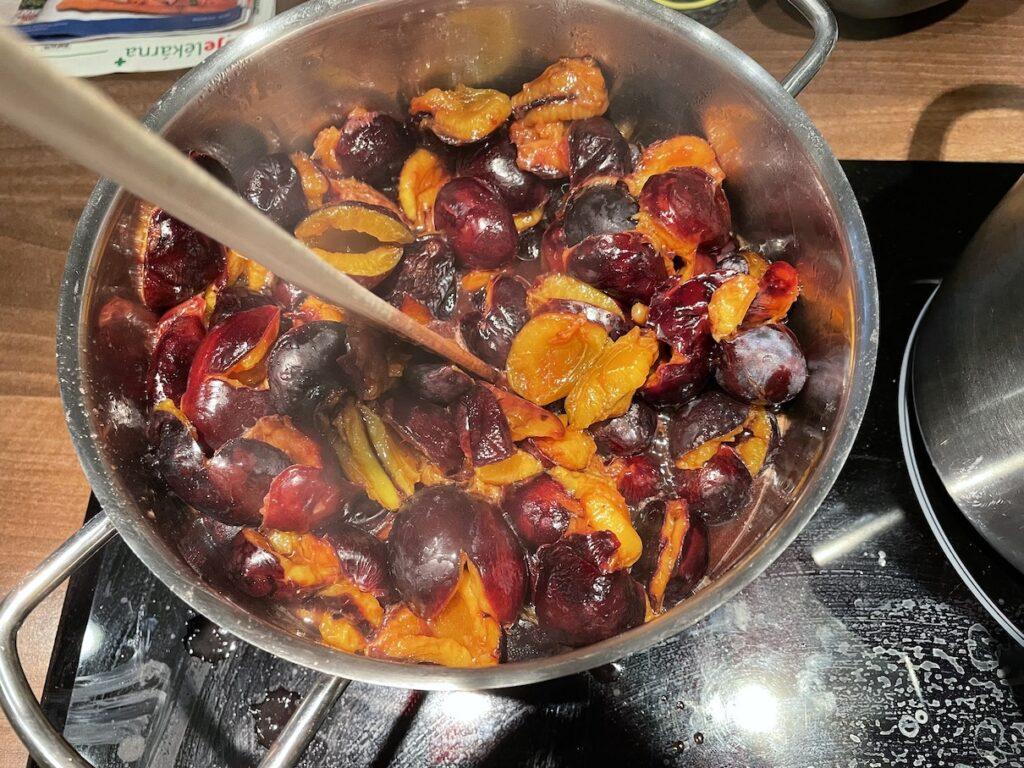 Vaření švestek